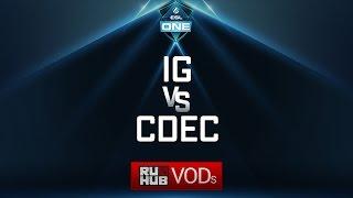 Invictus Gaming vs CDEC, ESL One Genting Quals, game 1 [Adekvat, 4ce]