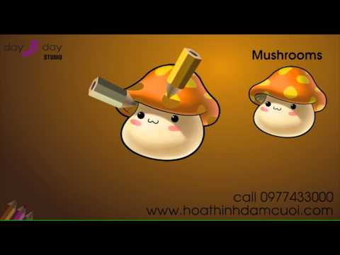 How to Draw a Mushrooms ( for children )