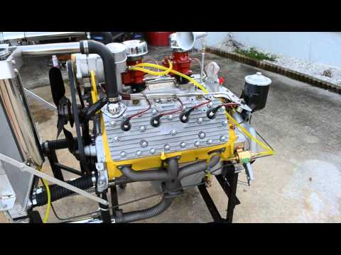 Flathead Ford Engine Start Up