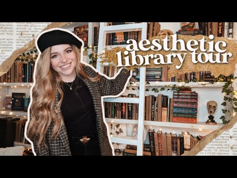 I gave my home library a makeover 📚 academia aesthetic library tour