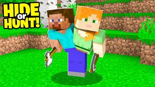 Minecraft Hide or Hunt, But Two People Control One Player