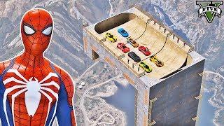 Video CARROS na Rampa Reta com Homem Aranha e Heróis! Desafio com Carros - GTA V Mods - IR GAMES MP3, 3GP, MP4, WEBM, AVI, FLV Januari 2019