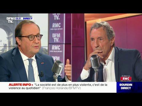 François Hollande était l'invité de Jean-Jacques Bourdin sur RMC