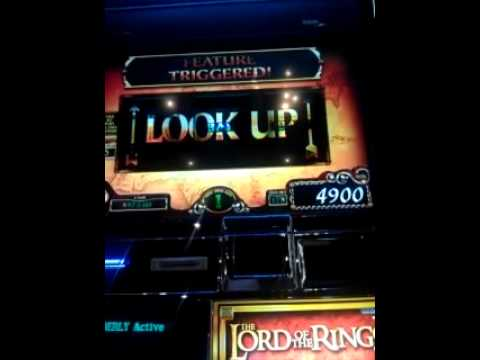 Lord of the Rings slot machine bonus win New York New York Las Vegas