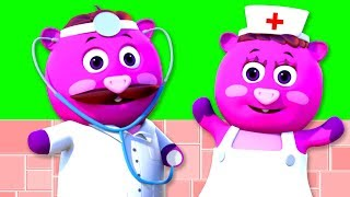 DOCTOR FAMILY SONG PART 1 | 3D Nursery Rhymes For Babies By All Babies Channel
