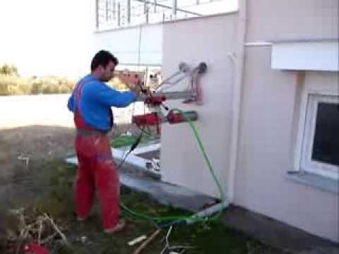 τζακιου - Μετατροπή απλού - χτιστού - παραδοσιακού τζακιού σε ενεργειακό τζάκι. Άνοιγμα τρύπας σε τοίχο για τοποθέτηση εξωτερικής περσίδας ώστε...