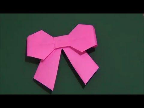 How to Make Origami Ribbon : 折り紙袋折り方簡単 : 折り方