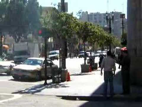 Funny Chevy malibu Bank Robbery commercial in Downtown LA