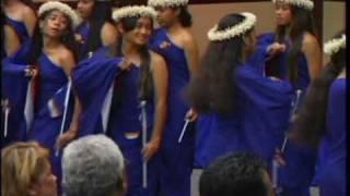Flag dance of Marshall Islands.