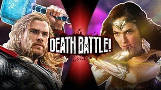 Thor VS Wonder Woman (Marvel VS DC Comics) | DEATH BATTLE!