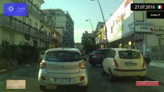 Scafati Italy  city photos : Driving through Campania (Italy) Pompei - Santa Maria la Carità - Scafati 27.07.2016 Timelapse x4