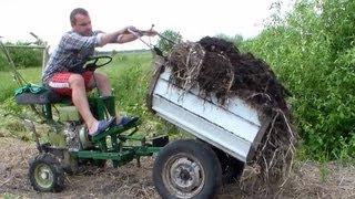 Перевозка компоста на огород
