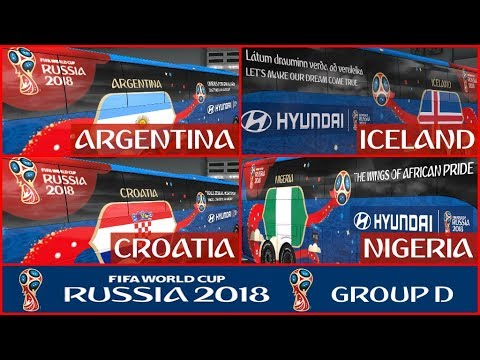 FIFA WORLD CUP 2018 RUSSIA Group D Official Buses Volvo 9800 v1.0