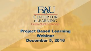 December 5, 2016 Professional Development: Project Based Learning