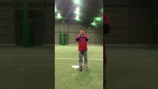 「ロングティーボール」(野球教室 ブリスフィールド東大阪 平下コーチ)
