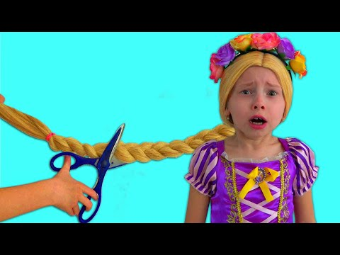 Alice as a Rapunzelplays in her Princess Room | Bedtime Stories