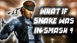 Amazing Smash 4 fan made Snake Codec's