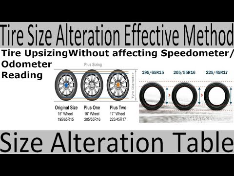 Tire Size Alteration Table, Tire UPsizing without affecting Speedometer/Odometr Reading [Urdu/Hindi]
