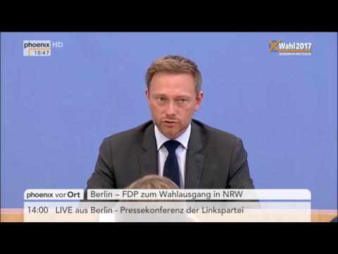 Landtagswahl Nordrhein-Westfalen: Pressekonferenz mit Christian Lindner
