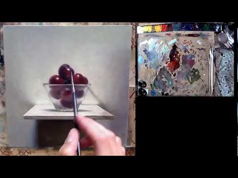 painting cherries - http://oilpaintingdemos.blogspot.com For full tutorial video ! ! ! Go to http://www.postcardfromholland.com to subscribe to new paintings A still life with c...