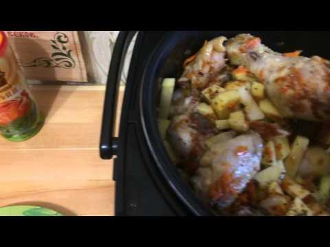 Картофель тушеный с курицей в мультиварке - DomaVideo.Ru