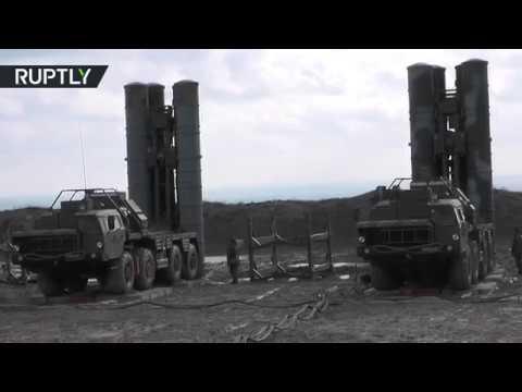 Вооружённый С-400 зенитно-ракетный полк заступил на боевое дежурство в Крыму (видео)