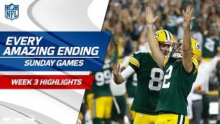 Every Amazing Ending to Sunday's Games | NFL Week 3 Highlights by NFL