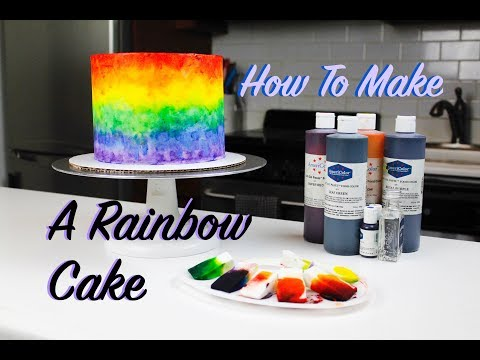 How To Make A Colorful Rainbow Cake | CHELSWEETS