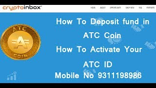 Download Lagu How To Deposit or Update Fund In CryptoInbox ATC COIN Mp3