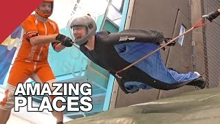 I Almost Learned To Fly In The World's Only Wingsuit Tunnel by Tom Scott