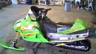 8. LOT 1768A 2003 Arctic Cat Firecat 700 EFI Teardown into Parts