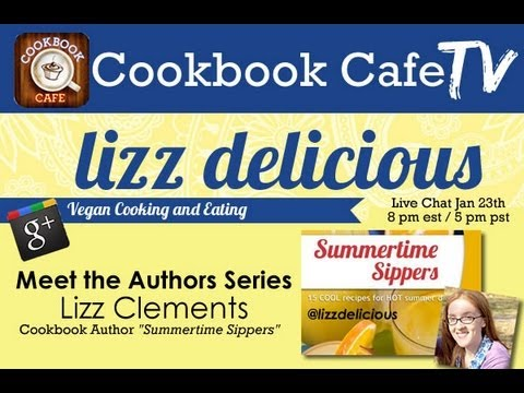 Cookbook Author Lizz Clements chats about self-publishing at CookbookCafe