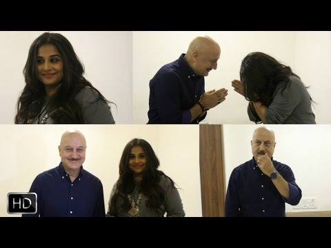 UNCUT- Vidya Balan Visits Anupam Kher's Acting School To Motivate Students