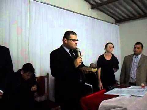 AD BAURU MADUREIRA Posse em Avanhandava pastor Eliazer e missionario Gino.