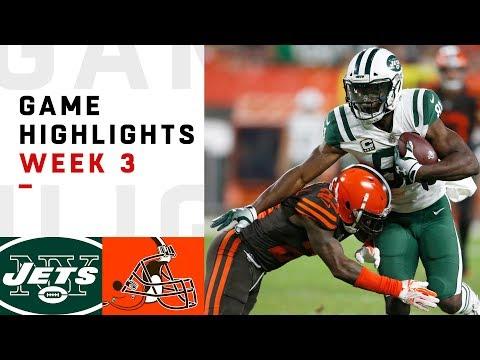 Jets vs. Browns Week 3 Highlights | NFL 2018