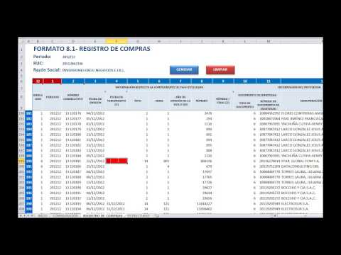 ple - www.excelnegocios.com el portal de Excel para contadores presenta: Estructuras automatizadas en Excel para importar a los LIBROS ELECTRONICOS SUNAT (Registro...