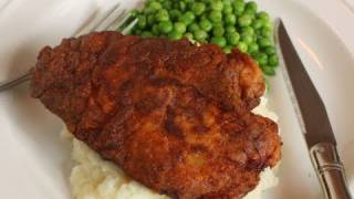 Honey-brined Southern Fried Chicken Breasts - Lower Fat Fried Chicken Breast Recipe