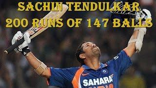 Sachin Tendulkar 200 Runs of 147 Balls Not Out (India vs South Africa)