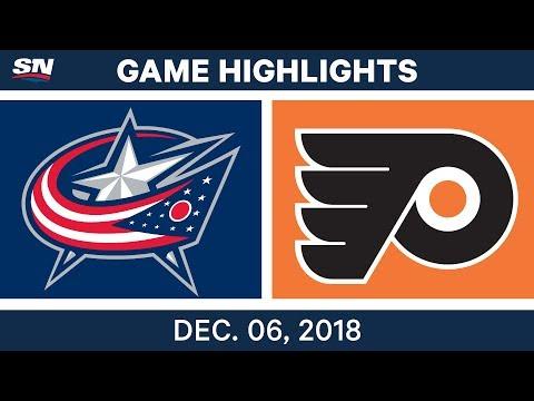 NHL Highlights | Blue Jackets vs. Flyers - Dec 6, 2018