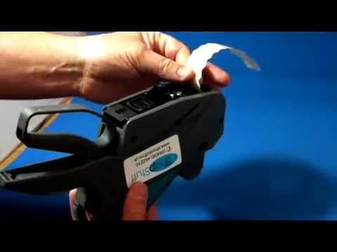 Meto Pricing Gun Label Loading Instructions / How To Use Meto Labeling Tool