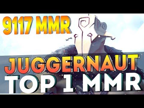 TOP 1 MMR - THE BEST Juggernaut in THE WORLD   DOTA 2 - 9117 MMR