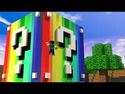 Minecraft – CUBO LUCKY BLOCK ARCO-ÍRIS! – MINI GAME PVP!