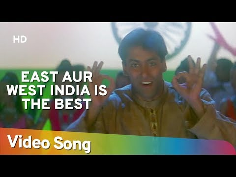 Video East Or West India is the Best - Salman Khan - Judwaa Songs - Anu Malik download in MP3, 3GP, MP4, WEBM, AVI, FLV January 2017