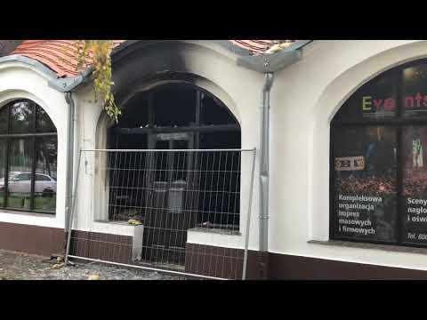 Wideo: Zniszczony pub w centrum Lubina po pożarze
