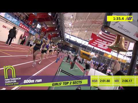 G 800 H04 (Ajee Wilson over Cain 2:06.58, HS Indoor Nationals 2012)