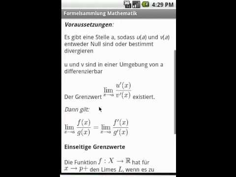 Video of Formelsammlung Mathematik