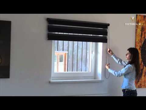 Victoria M  Doppelrollo - Duo Rollo mit Kettenzug für Fenster und Türen