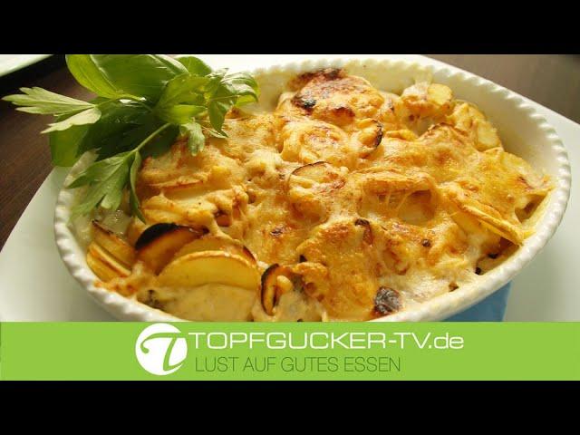 Pastinaken Gratin   Vegetarisches Rezept   Topfgucker-TV