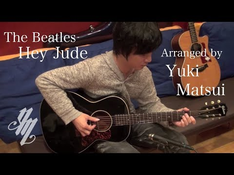 The Beatles-Hey Jude acoustic guitar instrumental song