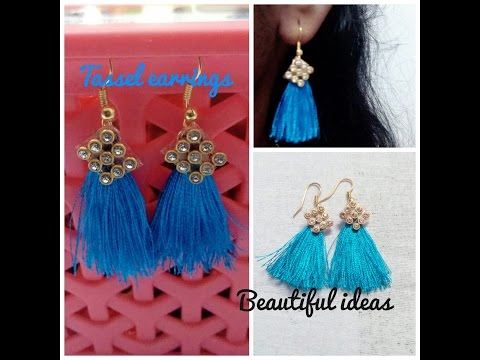 How to make Silk Thread Tassel Earrings at Home ( New Fashion Earrings )